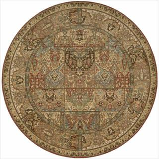 Living Treasures Multicolor Wool Rug (7'10 Round)