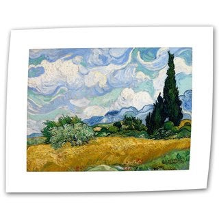 Vincent van Gogh 'Wheatfield with Cypresses' Flat Canvas