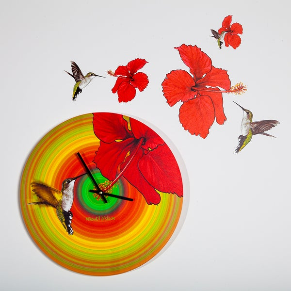 Maxwell Dickson 'Humming Bird' 15-inch Wall Clock