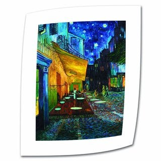 Vincent van Gogh 'The Cafe Terrace on The Place Du Forum' Flat Canvas