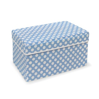 Badger Basket Double Folding Blue Polka Dot Storage Seat