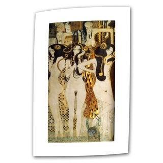 Gustav Klimt 'Beethoven Frieze' Flat Canvas