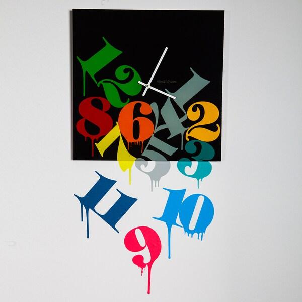 Maxwell Dickson 'Melting Numbers' Wall Clock