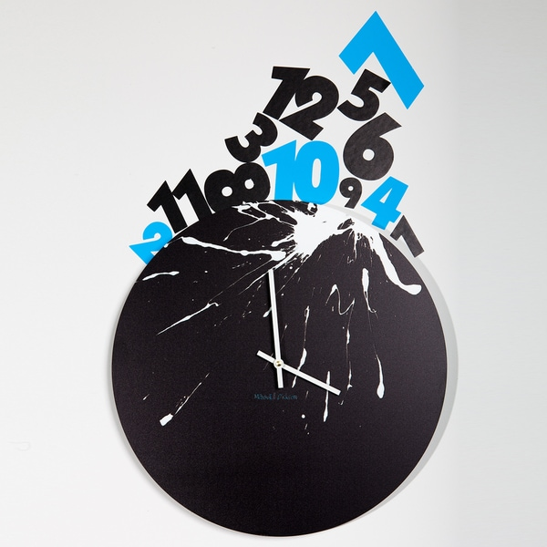 Maxwell Dickson 'Numbers Piled Up' 15-inch Wall Clock