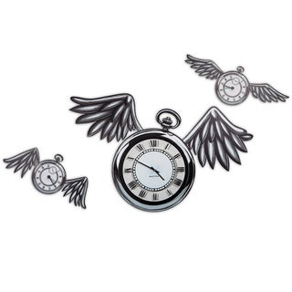 Maxwell Dickson 'Time Flies' 15-inch Wall Clock