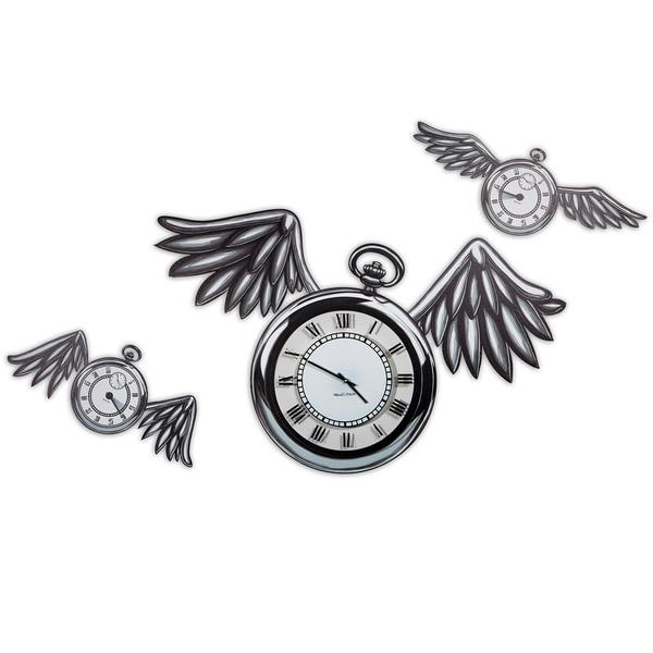 Maxwell Dickson 'Time Flies' 15-inch Wall Clock