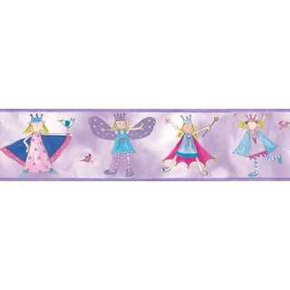 Fairy Princess Border Peel & Stick Wall Decal Art