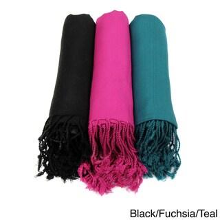 Set of 3 Handmade Men's/ Women's Saachi Scarves (India)