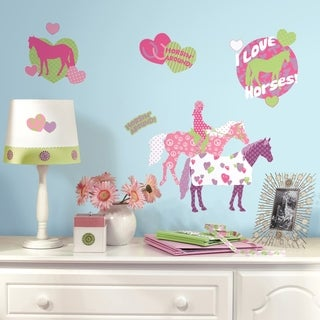 Horse Crazy Peel & Stick Wall Decal Art