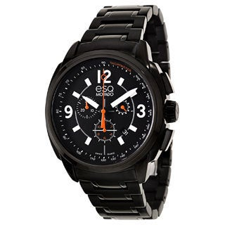 Movado Men's 'ESQ Excel' Black Stainless Steel Chrono Watch