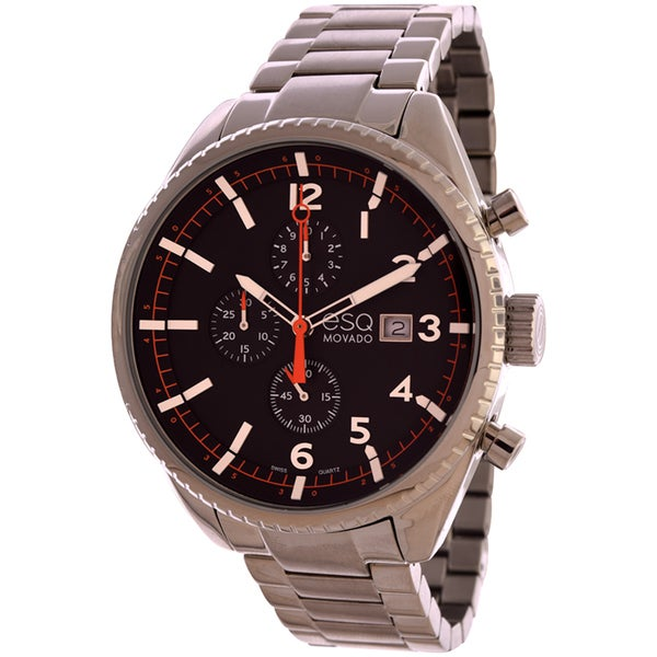 Movado Men's 'ESQ Chronograph Catalyst' Stainless Steel Watch