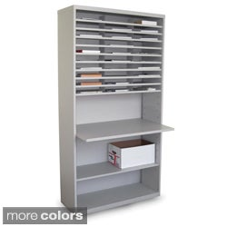Marvel Mail Sorting Station with Adjustable Worksurface and 30 Cubbies