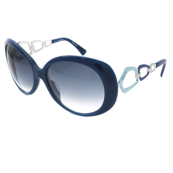 Emilio Pucci Womens 425 Blue Loop Frame Fashion Sunglasses