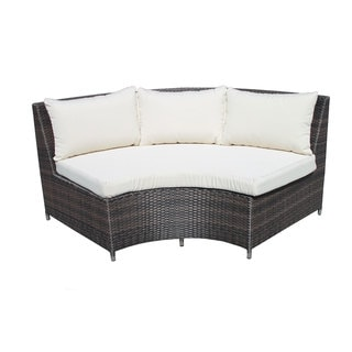 Circa Outdoor 1/4 Round High Back Bench