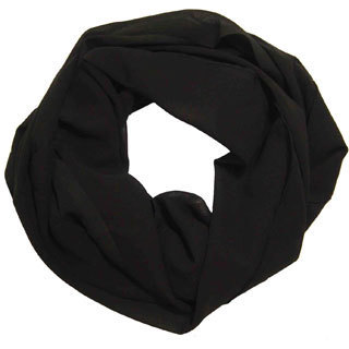 Peach Couture Women's Black Chiffon Infinity Loop Scarf