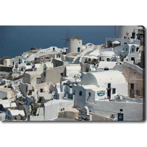'Oia, Santorini' Gallery-wrapped Canvas Art