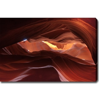 'The Dance of Shadow and Light in Antelope Canyon' Gallery-wrapped Canvas Art