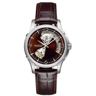 Hamilton Men's 'Open Heart' Marron Open Dial Watch