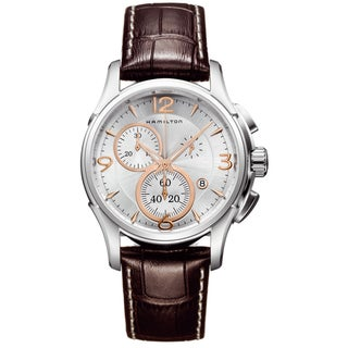 Hamilton Men's 'Jazzmaster' Chronograph Silver Dial Watch