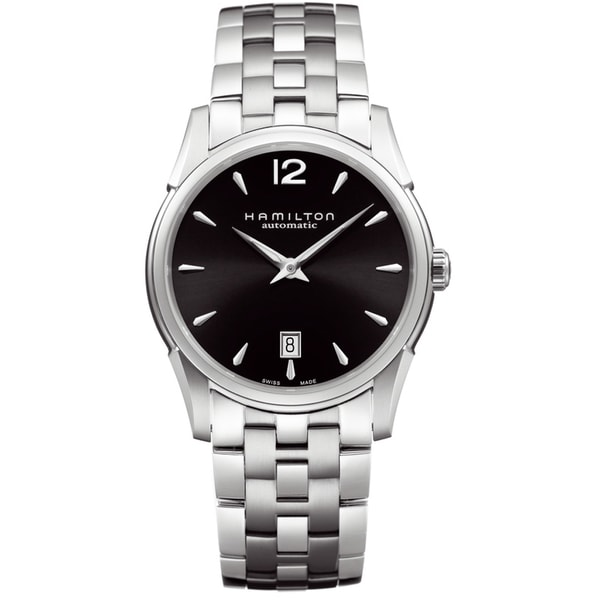Hamilton Men's 'Jazzmaster' Black Dial Stainless Steel Watch
