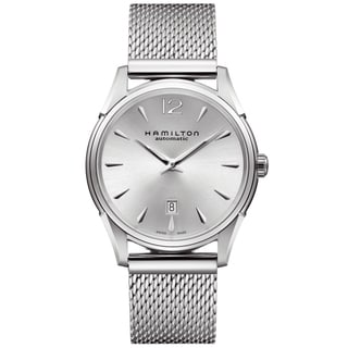 Hamilton Men's 'Jazzmaster' Silver Dial Stainless Steel Watch