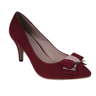 Cape Robbin by Beston Women's Red Point-toe Heels