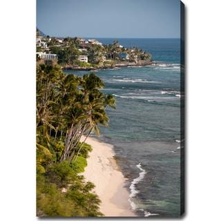 'Coastline in Hawaii' Gallery-wrapped Canvas Art