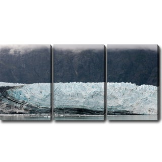 'Glaciers of Alaska' Canvas Art (Set of 3)