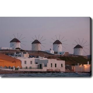 'Windmills of Mykonos' Canvas Art
