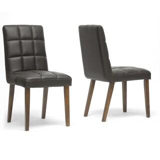 Damita Brown Modern Dining Chairs (Set of 2)