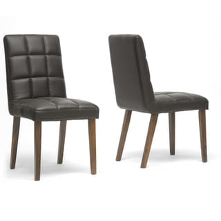 Damita Brown Modern Dining Chairs (Set of 2)