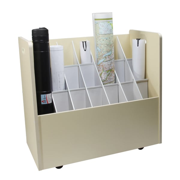 Adir 21-compartment Mobile Wood Roll File