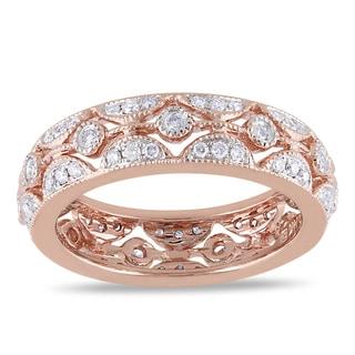 Miadora 14k Rose Gold 1/2ct TDW Diamond Ring (G-H, SI1-SI2)