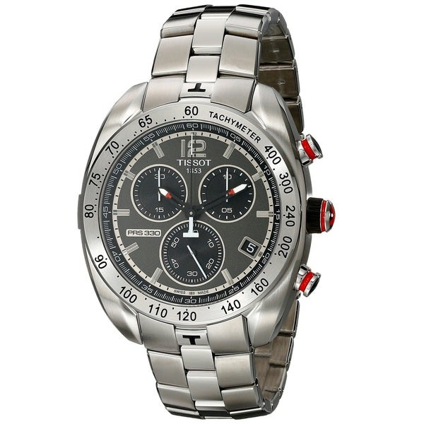 Tissot Men's T 076.417.11.067.00 'PRS 330' Anthracite Dial Chronograph Watch