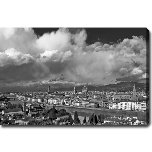 'Holy Light in Florence' Canvas Art