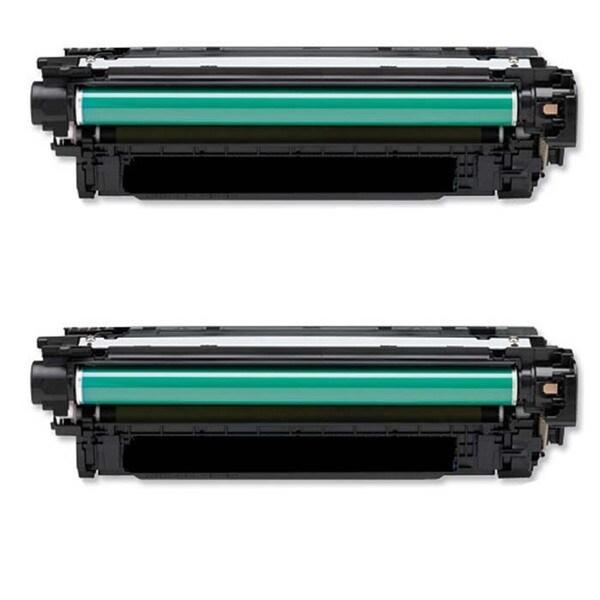 HP CE264X Remanufactured Black Toner Cartridges (Pack of 2)