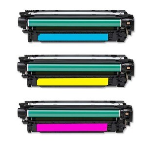 HP CF031A CF032A CF033A Re-manufactured Color Toner Cartridges (Pack of 3)