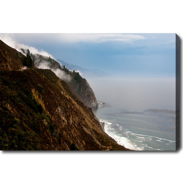 'Foggy Big Sur' Canvas Art