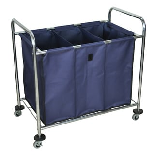 Luxor HL15 Laundry Cart with Navy Cloth Laundry Bag