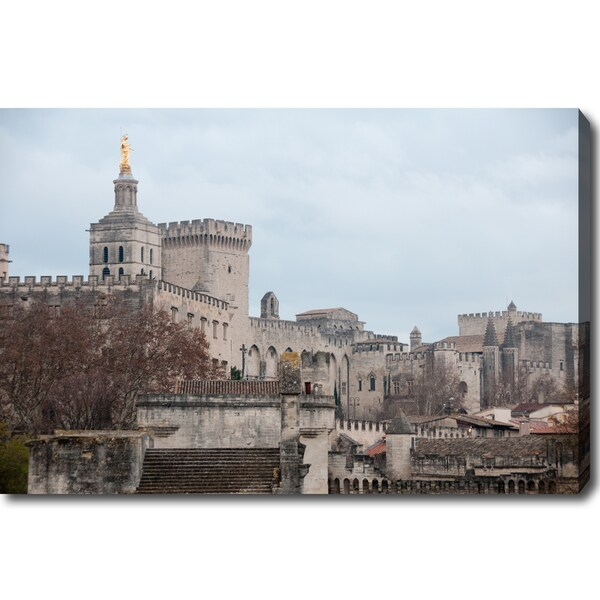 'The Old Town of Avignon' Canvas Art