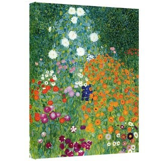Gustav Klimt 'Farm Garden' Gallery-wrapped Canvas Art