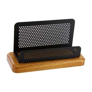 Rolodex Distinctions 2.25 x 4-inch Cherry/ Black 50-business Card Holder