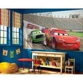 Cars Chair Rail Prepasted Wall Art Mural (6' x 10.5')