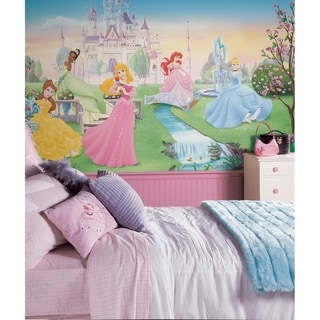 Dancing Princess Chair Rail Prepasted Wall Art Mural (6' x 10.5')