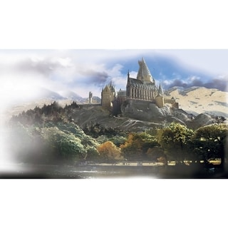 Harry Potter Chair Rail Prepasted Wall Art Mural (6' x 10.5')