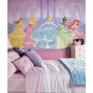 Perfect Princess Chair Rail Prepasted Wall Art Mural (6' x 10.5')