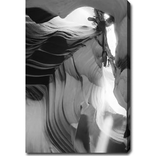 'The Amazing Antelope Canyon - Black and White' Canvas Art