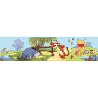 Pooh & Friends Peel & Stick Wall Border Decal Art