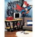 Superman Chair Rail Prepasted Wall Art Mural (6' x 10.5')