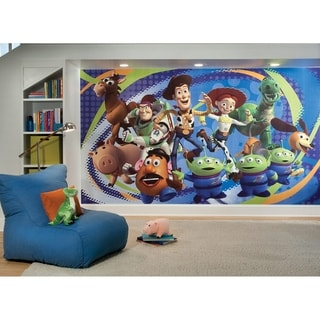 Toy Story 3 Chair Rail Prepasted Wall Art Mural (6' x 10.5')